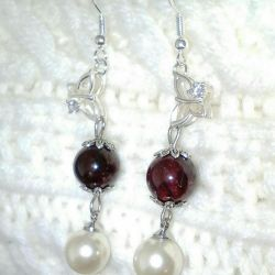 Earrings with silver plated. fasteners