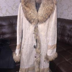 Sheepskin coat new natural