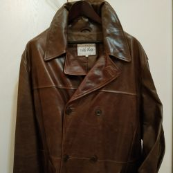 New leather coat 54 size