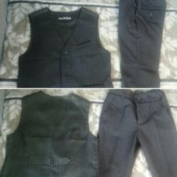 Двойка: жилетка и брюки