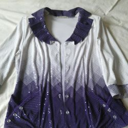 The blouse is female, size54, Kyrgyzstan