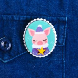 Acrylic badge in the