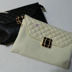 New clutches; white in stock, delivery