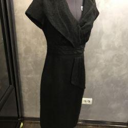 Dress black 46 r, mohair on a lining, Spain