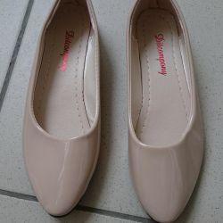 Flats beige, 35 size, new