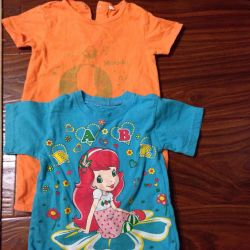 T-shirt and overalls 92 cm