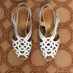 Leather French Sandals