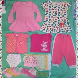 Things a package for a girl 6m-1.5g (16 pcs, used)