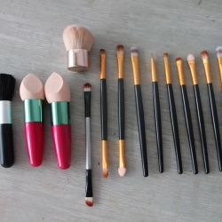 sponges and brushes