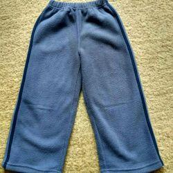 Fleece pants, winter.