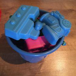 Bucket and molds