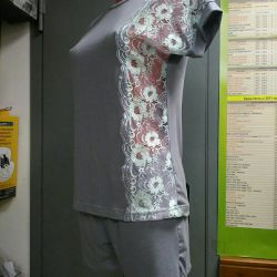 Suit home with shorts, size range 44-54