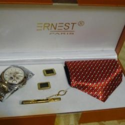 Gift Set Ernest Watch Tie Cufflinks