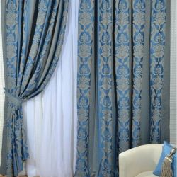 Set of curtains Ester blue 200 * 250