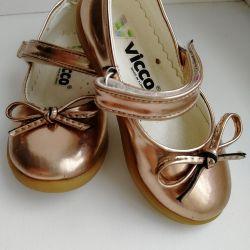 13 cm gold shoes
