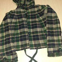 Куртка с капюшоном для девочек