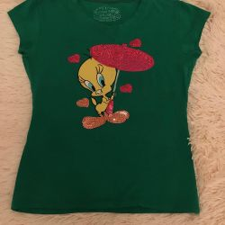 Yama ile yeni T-shirt