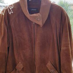 Куртка кожаная замшевая 56- 58