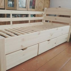 Cot with drawers