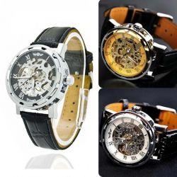 Новые, в упак, механические часы Скелетоны Winner