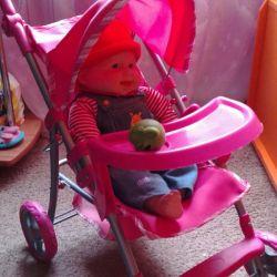 Bir oyuncak bebek ile vagon satacağım