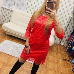 Коралловые платье 42 44