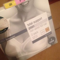 Total support plain non wired full cup different new