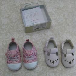 Обувь на девочку (мягкая подошва) 19 размер