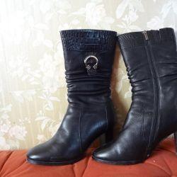 Δερμάτινες μπότες χειμωνιάτικες