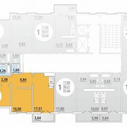 Apartment, 3 rooms, 73.7 m²