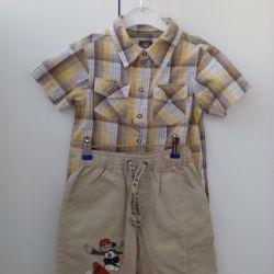 Shorts and shirt times 98-104