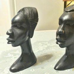 Африканские бюсты из черного дерева