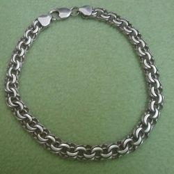 Браслет серебро 925 пробы на ногу
