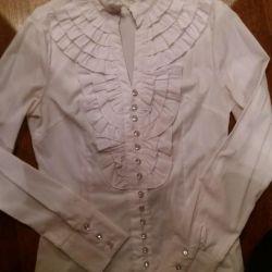 Нарядная белая блузка 42р Маrimay в идеале
