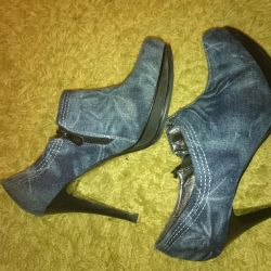 Boots. Denim Ankle Boots 37 r.