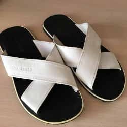 Slippers mens genuine leather