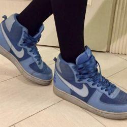 Yüksek spor ayakkabı Nike sb dunk yüksek mavi 25 cm