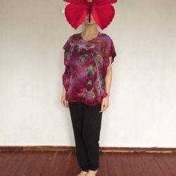 Шовковий блуза-серапе, авторська робота