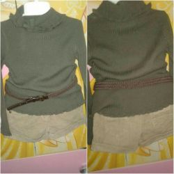 Skirt + shorts + sweater 92-104