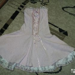 Dress with a corset
