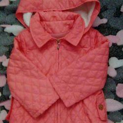 Jacket demi-season on a girl .. Caramel Firm