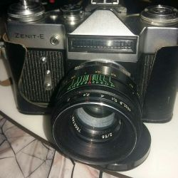 Camera Zenit-E with electric flash.