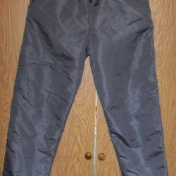 New gray pants on fleece height 158