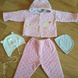 Suit (set) for girls 1-1.9 years