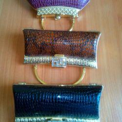 Stylish evening clutch handbags.