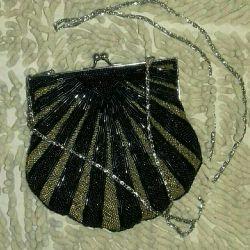 Θεατρική τσάντα συμπλέκτη χάντρα