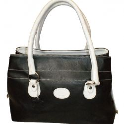 Bag TODS black and white, genuine leather