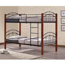 Кровать Кроку Простий Металевий Дерево 90x190