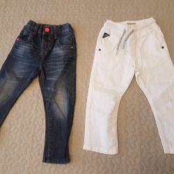 Bir erkek için kot pantolon ve pantolon