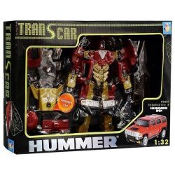 The robot transforms into a Hummer 1:32 with light